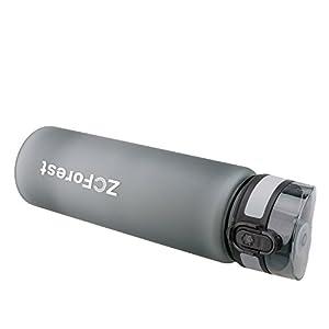 Portable Bottles,ZCForest Best Sports Water Bottle 800ml Fast Flow Flip Top Leak Proof Water Bottle for Sports Travel Camping Running--gray