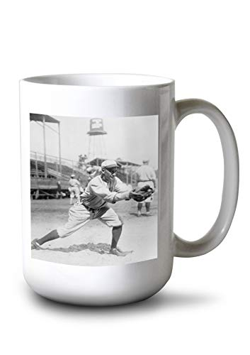Lantern Press Del Pratt, St. Louis Browns (Baltimore Orioles), Baseball Photo (15oz White Ceramic Mug)