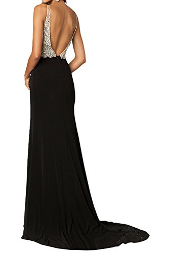V Himmel La Lang Ausschnitt Rot Braut Festlichkleider Blau Steine mit Zahlreichen Abendkleider Ballkleider Elegant mia Partykleider FHHnUI
