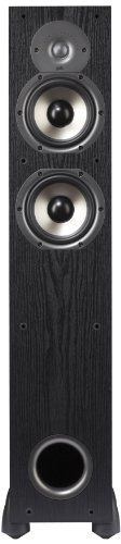 Polk Audio Monitor-55T Two-Way Floorstanding Speaker (Black, - Standing Floor Single Loudspeaker