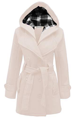 4XL Femmes hiver Janisramone tailles S manteau capuche Stone wqHP67p8