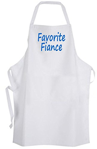 Favorite Fiance – Adult Size Apron – Wedding Marriage Bride Wife Groom Husband by Aprons365