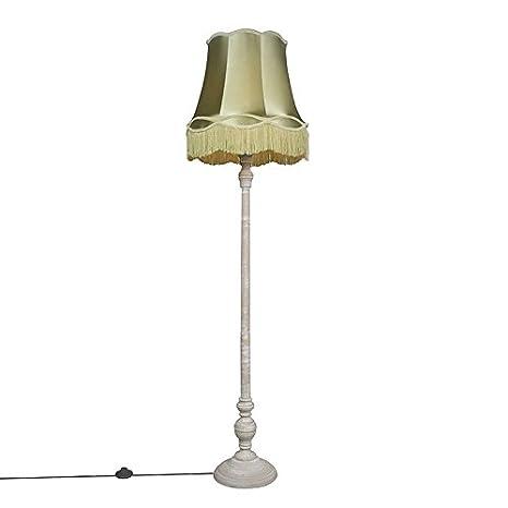 QAZQA Retro/Vintage Lámpara de pie CLASSICO gris con ...