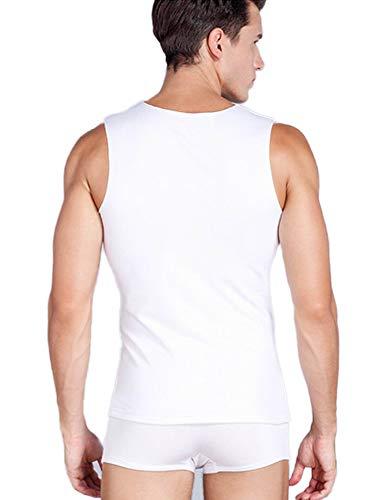 5dbb094c6 Warmfort Mens Lightweight Elastic ComfortSoft V-Neck Seamless Tank Top  Sleeveless Undershirts