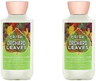 Bath and Body Works 2 Pack Crisp Orchard Leaves Super Smooth Body Lotion. 8 Oz.