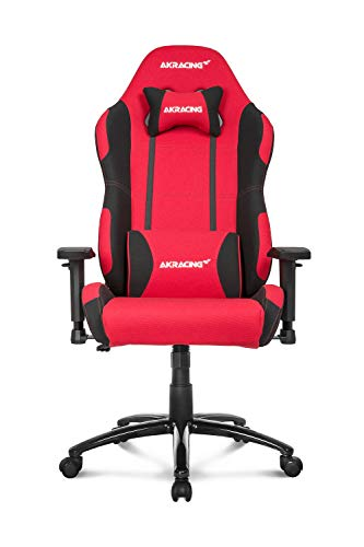 AKRacing Core Series EX-Wide Gaming Chair with Wide Seat, High and Wide Backrest, Recliner, Swivel, Tilt, Rocker and Seat Height Adjustment Mechanisms with 5/10 warranty – Red/Black