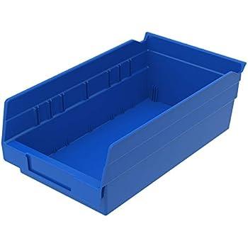 Akro-Mils Shelf Bin 23-5//8D x 4-1//8W x 4H Blue  12 pack