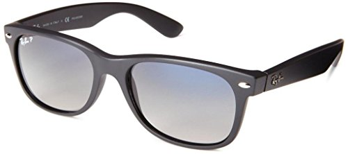Ray Ban RB2132 601S78 52 Matte Black Polarized New Wayfarer Bundle-2 - Rb2132 52 Polarized