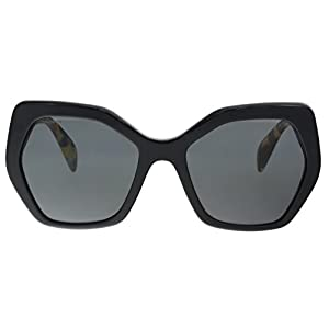 Prada Women's Oversized Geometric Sunglasses, Black/Grey, One Size