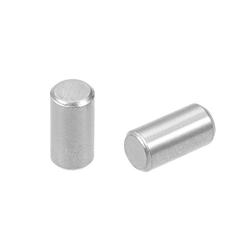 uxcell 20Pcs 5mm x 10mm Dowel Pin 304 Stainless Steel Shelf Support Pin Fasten Elements Silver -