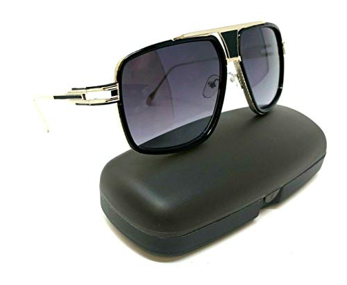 fcf1ddba1b Gazelle Tycoon Aviator Sunglasses w Multicolor Lenses (Black   Rose Gold  Metallic Frame w