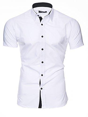 Maniche FloridaMaimi Xl White Uomo M Fit L Xxl 2xlmodello Camicia Originale Cotone Corte Kayhan Slim Facile S Stiro EbW9IeDH2Y