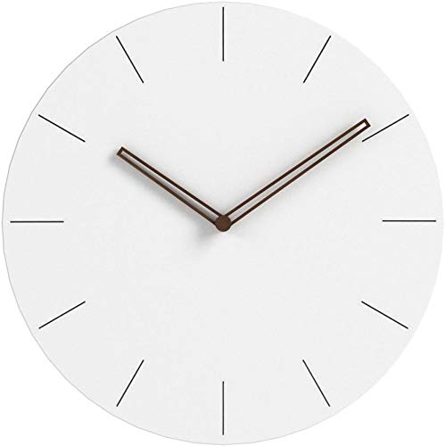 Simple Modern White Round Wooden Wall Clock 11 inch...