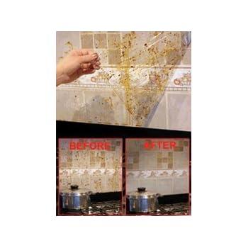 Amazon.com: Splatter Shield Kitchen Wall Protector Set of ...