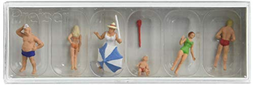 - Preiser 10283 Recreation & Sports Family at The Beach HO Model Figure