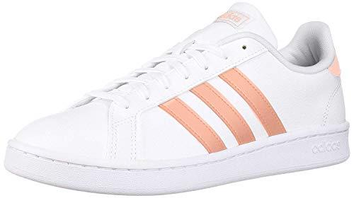 adidas Women's Grand Court, White/dust Pink/White, 9.5 M US