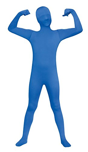 Blue Skin Child Costume (Ultimate Halloween Costume UHC Skin Suit Bodysuit Zentai Funny Theme Fancy Dress Child Halloween Costume, Blue, Child L (12-14))