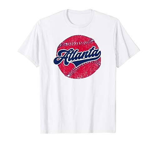 Atlanta Baseball | ATL Vintage Georgia Baseball Retro Gift T-Shirt (Power Balance Atlanta Braves)
