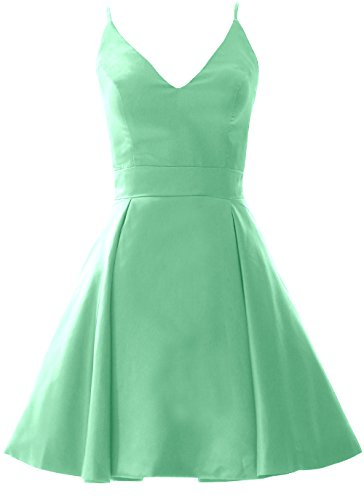 V Dress Neck Party Minze Homecoming Formal Mini Prom Elegant Gown Wedding MACloth 5RwYxf4q5