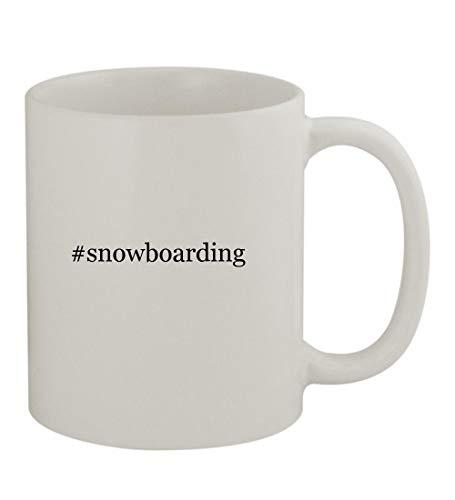 #snowboarding - 11oz Sturdy Hashtag Ceramic Coffee Cup Mug, White ()