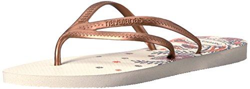 ints Flip Flop Sandals, Tria Tribal Print,Beige,37/38 BR (7-8 M US) (Havaianas Print Flip Flops)