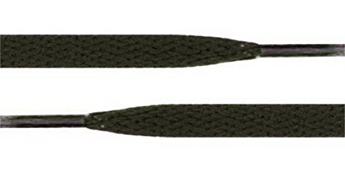 YD Shoestring - Flat Athletic Shoe Lace 54 inch Canvas Sneaker Shoelaces Unisex Strings Color Dark Green