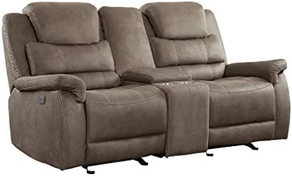 Homelegance 74″ Double Reclining Loveseat Power