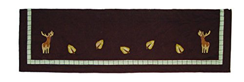 Patch Magic Brown Elk Curtain Valance, 54-Inch by 16-Inch