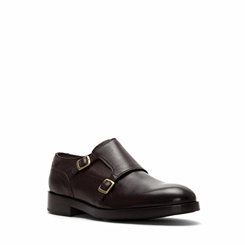 Cole Haan Hombre Harrison Grand Double Monk Oxford Marrón Oscuro / Marrón Oscuro