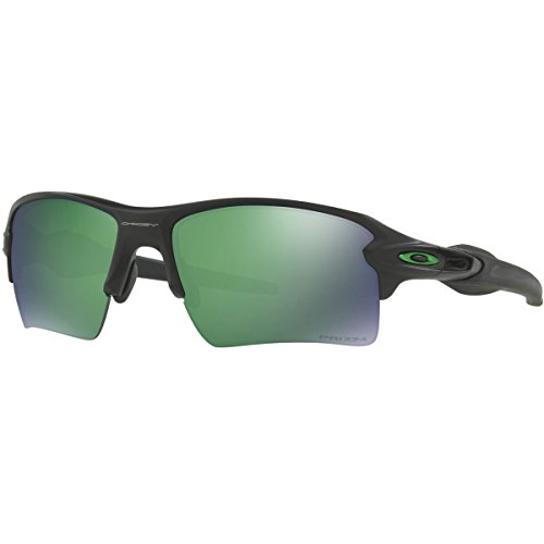 Oakley Mens Flak 2.0 XL Polarized Sunglasses, Matte Black/Przm Jade Pol,OS