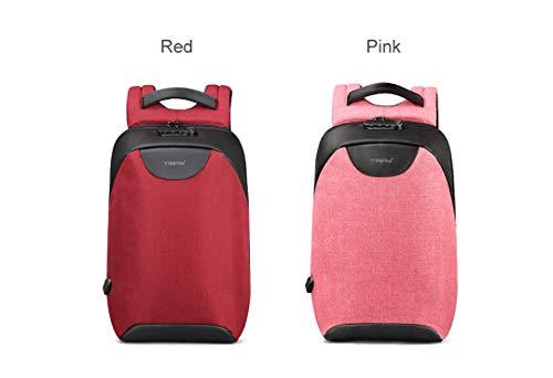 Sac 15 Pink Oxford Pouces Dos Voyage 6 Femmes École Antivol Mode Vintage USB Femelle Étanche Adolescents 8ZHBRAZWd