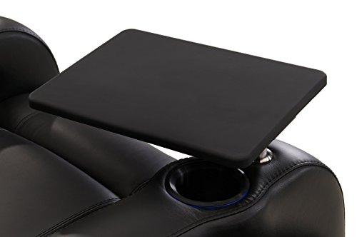Tv Blk (Octane Seating PAS-TBL-BLK Octane Black Swivel Tray Table)