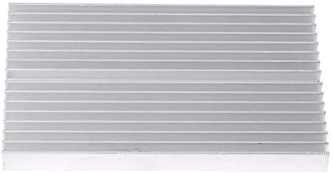 Aluminium Heatsink,Aluminum Grille Shape Heat Sink Cooling Fin for IC LED Power Transistor 100 60 10MM,16 Teeth