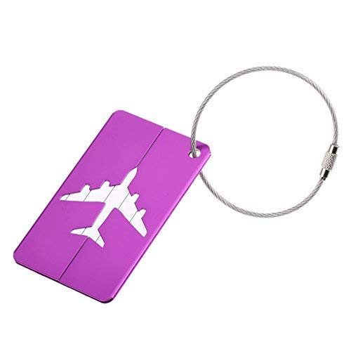 7 PCs Luggage Tags for Suitcases - Flexible Name ID Labels Set for Travel, Multicolor Bag Tag Travel Accessories, Name ID Labels Set, Business Card Holder