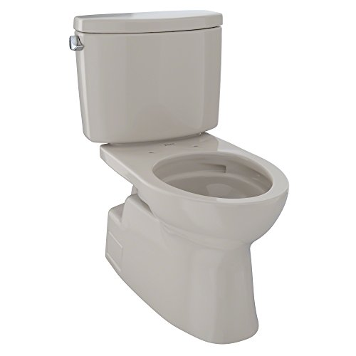 Toto CST474CEFGNo.03 Vespin II Two-Piece High-Efficiency Toilet, with SanaGloss, 1.28-GPF, Bone ()