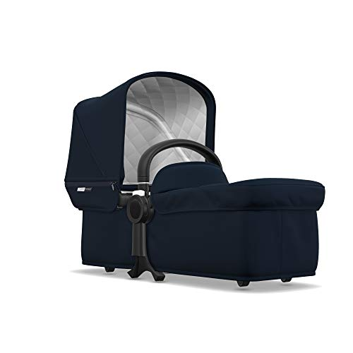 Bugaboo Donkey2 Classic Collection Bassinet, Dark Navy - Designer Fabrics for your Bassinet! Complete Your Double Stroller for Infant Twins!