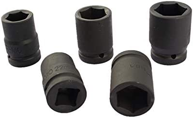 Douille /à choc SENRISE 1//2 8-32 mm 6 points universelle /à t/ête pneumatique pour cl/é /à choc /électrique lot de 1 noir