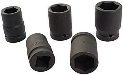 noir Toolstar Douille /à chocs 8 /à 36 mm 6 pans 8 cm avec t/ête /à chocs pour outils /à chocs sans fil
