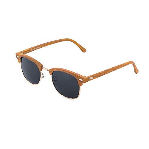 Chestnut TWIG DEGAS Gafas estilo sol mujer hombre madera Negro de qaW7CP8