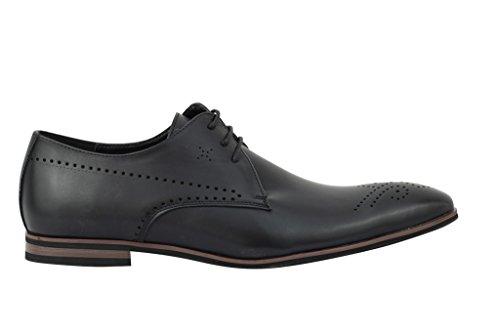 Xposed Zapatos de Cordones de Piel Sintética Para Hombre Negro Negro iUzVFATrVd