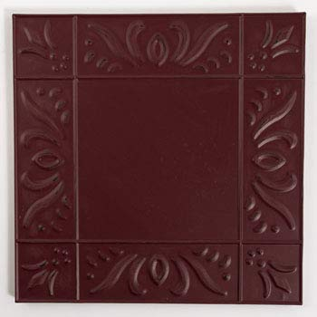 DollarItemDirect Wall Tile 11 X 11 Metal Embossed RED, Case Pack of 16