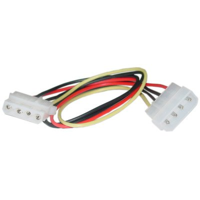 12 inch, 4 Pin, Molex Extension Cable ( 100 PACK ) BY NETCNA by NETCNA (Image #1)