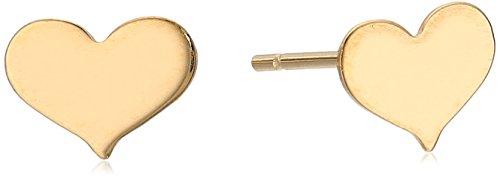 10k Yellow Gold Heart Stud Earrings