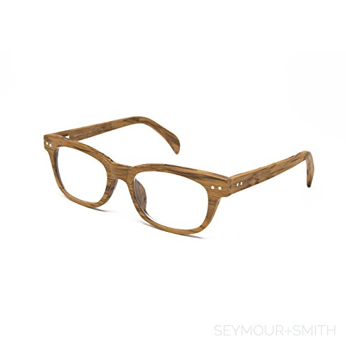 Seymour and Smith Yaletown Yew Reading Glasses for Men and Women (Blonde Wood, -