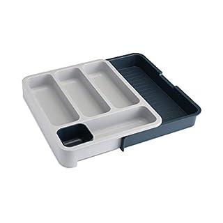 Joseph Joseph 85042 DrawerStore Expandable Cutlery Tray, Gray