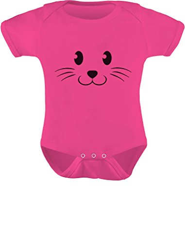 Tstars Cute Face Halloween Easy Costume Infant Baby Bodysuit 24M Wow Pink -