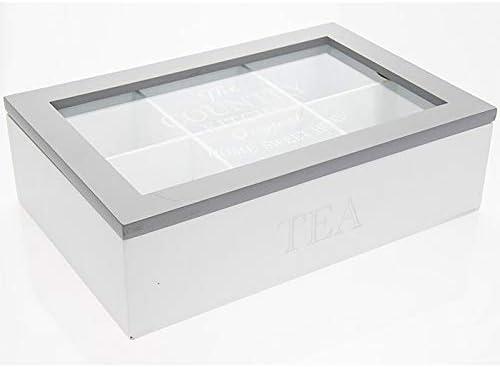 Home Sweet Home - Caja de madera para té con tapa de cristal: Amazon.es: Hogar