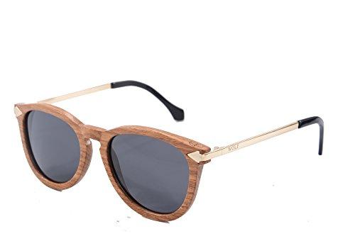 Sunglasses Logo W092 Lunettes Grey Rond Bois Metal Pear Femmes de gun Sous Vintage Temple Categorie SHINU Avec Soleil PqAOETB6gK