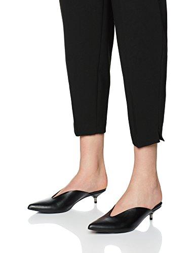 FIND Zapatos Abiertos de Piel para Mujer Negro (Black)