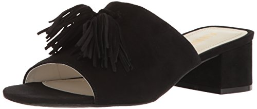 Anne Klein Women's Salome Suede Heeled Sandal, US Black